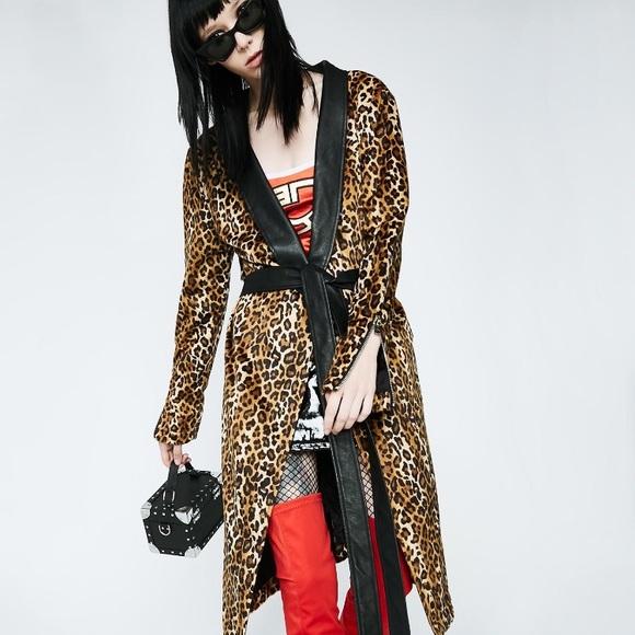Dolls Kill Jackets   Coats   Current Mood Faux Leopard Print Coat ... 6f33c0b6e4